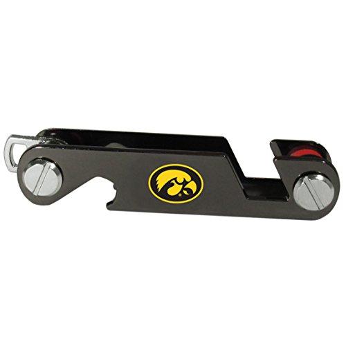 Siskiyou NCAA Iowa Hawkeyes Unisex SportsKey Organizer, Metal, One Size - Iowa Hawkeyes Logo Keychain