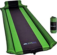 IFORREST Sleeping Pad w/Armrest & Pillow - Rollover Protection - Self-Inflating Camping Mattress, Best Cot
