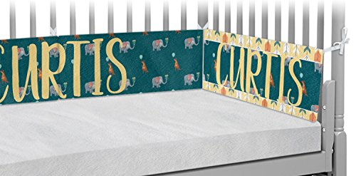 Animal Friend Birthday Crib Bumper Pads (Personalized) by RNK Shops