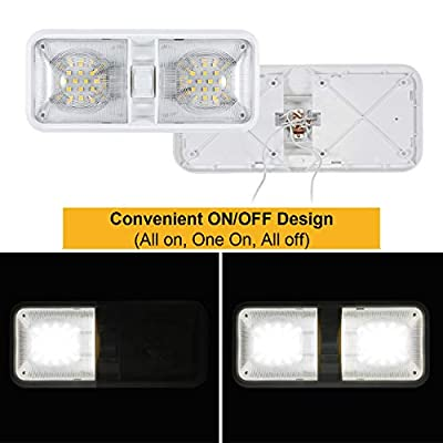Kohree 12V Led RV Ceiling Dome Light RV Interior Lighting for Trailer Camper with Switch, Natural White 4000-4500K 640 Lumens (Pack of 5): Automotive