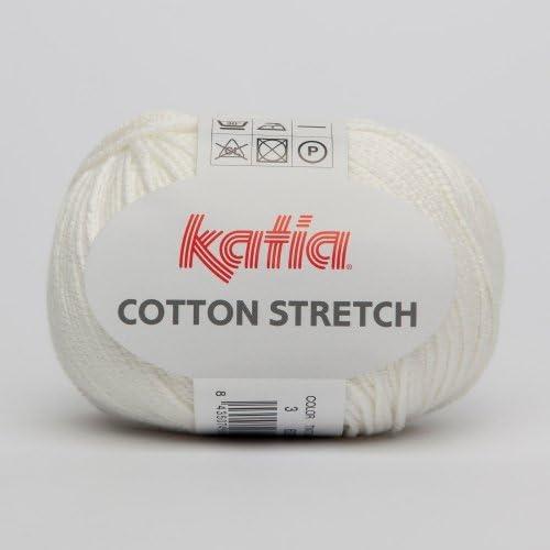 Katia algodón stretch 003 Color Blanco 50 g lana: Amazon.es: Hogar