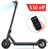 TOMOLOO L1 Electric Scooter and Foldable Kick Scooter with APP Commuting Scooter and Portable E-Scooter with 8.5' Air Filled Tires 18.6 Miles Long Range Up to 15.5 MPH and LED Headlight for Adults