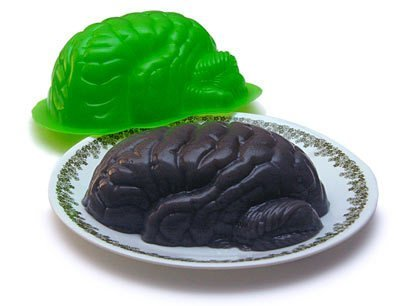 Zombie Brain Jello Mold the Walking Dead Horror Decor