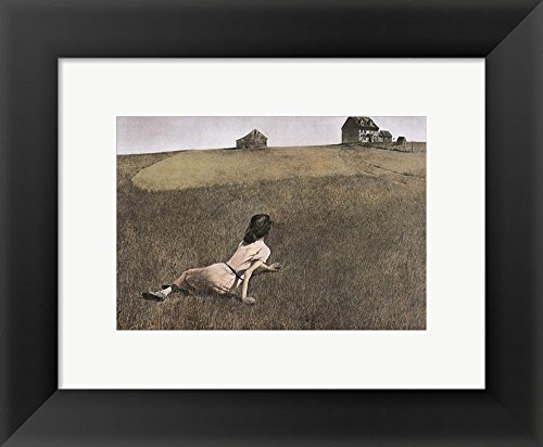 Christina's World, c.1948 by Andrew Wyeth Framed Art Print Wall Picture, Black Frame, 12 x 10 inches ()