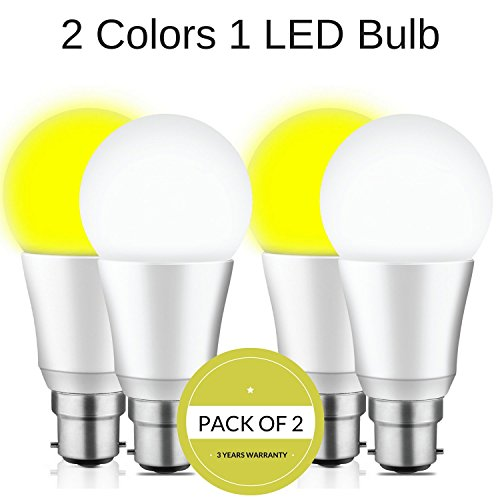 Mansaa DualShine – 2 COLORS in 1 LED Bulb – (9w, 3yrs warranty) (Pack of 2)