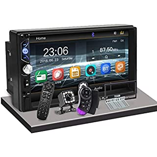 Discount CarThree Double Din Car Stereo 7' Touch Mirror Link Auto Audio Player for subwoofer MP5 Player Autoradio Bluetooth Rear View Camera Tape Recorder