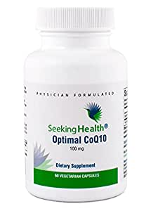 Optimal CoQ10 | Best Coenzyme Q10 Supplement 100 mg | 60 Vegetarian Capsules | Free of Common Allergens | Seeking Health | Physician Formulated