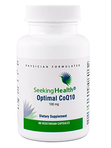 Optimal CoQ10 | Best Coenzyme Q10 Supplement 100 mg | 60 Vegetarian Capsules | Free of Common Allergens | Seeking Health | Physician Formulated Review