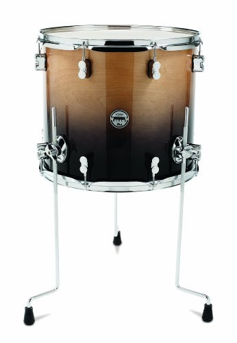 Pacific Drums PDCB1618TTNC 16 x 18 Inches Floor Tom with Chrome Hardware Natural to Charcoal Fade [並行輸入品] B07BS189XJ
