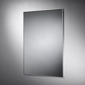 Delta Non Illuminated Bathroom Mirror 900mm X 600mm With Aluminium Frame