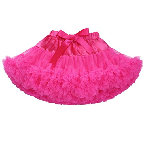 Meeyou Baby & Little Girls' Solid Color Dance Tutu Pettiskirt£¨L,Hot (Hot Pink Pettiskirt Tutu)