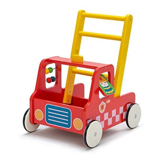 andador para bebé multifuncional de madera