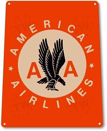 Amazon.com: Cartel de metal retro con diseño de aerolíneas ...
