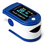NA Auto Finger Oximeter Blood Oxygen Monitor with Coloed OLED Displaydults Blue