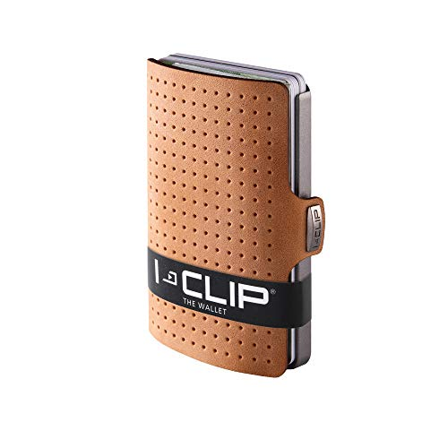 (I-CLIP - AdvantageR (Caramel) - Slim Wallet - Minimalist, Thin Design & Money Clip)