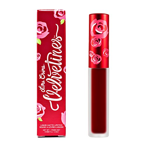 Lime Crime Velvetine FEELINS. Long Lasting DEEPEST TRUE RED Liquid Matte Lipstick (0.088 fl oz / 2.6ml) -