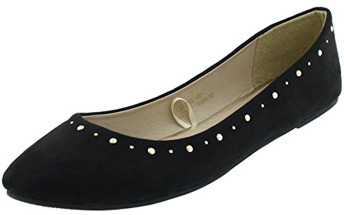 Capelli New York Ladies Flats Black Stud