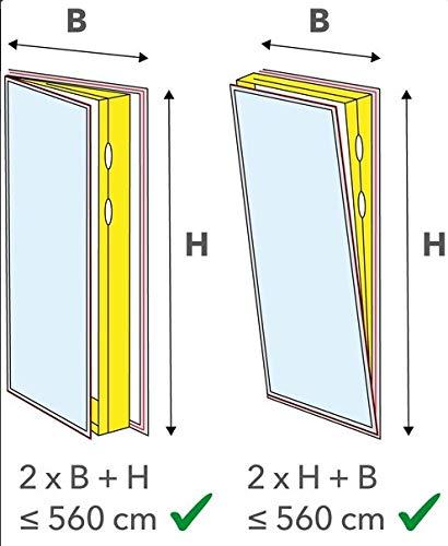 Airlock f/ür gro/ße Fenstergr/ö/ßen geeignet f/ür Fenster Maximalumlauf von 560cm Eycos AL3000 Fensterabdichtung f/ür Abschluftschlauch von Klimager/äten