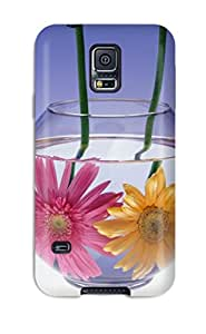 Excellent Galaxy S5 Case Tpu Cover Back Skin Protector Flowers In Water