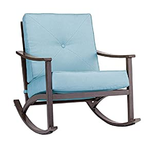 Living Accents 714.006.001 2 Sorento Rocking Chair, Blue/Brown