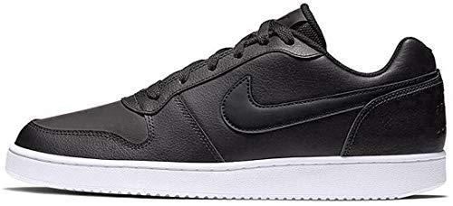 Nike Women's Ebernon Low Sneaker, Black/Black/White, 7.5 Regular US