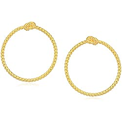"kate spade new york""Door Knocker Hoops"" Sailor'S Knot Door Knocker Gold Hoop Earrings"