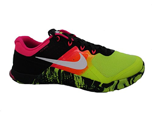 Nike Men's Metcon 2 Cross Running Shoes (11 D(M) US, Volt/White/Black)