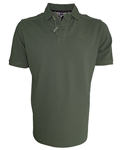 Baileys Polo Shirt Vintage in oliv Baumwolle Polokragen Gr. L bis 4XL 415233-357