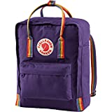 Fjallraven Women's Kanken Backpack, Purple/Rainbow, One Size