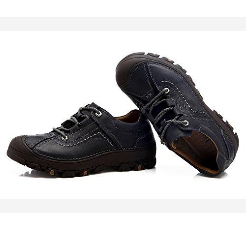 Zapatos Para Caminar Al Aire Libre De Los Hombres Del Verano Del Otoño CHT Transpirable De Cuero Grande Multicolor Código Opcional Black