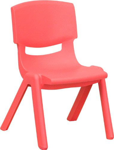 Preschool Plastic Chairs - 10¬?'' Preschool/Kindergarten Red Plastic Stack Chair [YU-YCX-003-RED-GG]