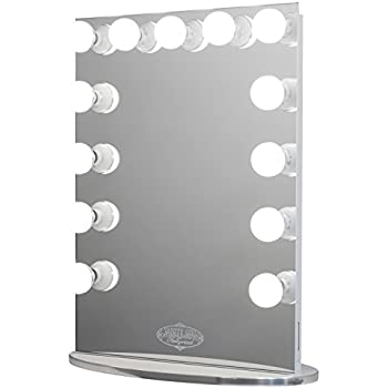 White Vanity Mirror With Lights. Vanity Girl Hollywood Infinity Mirror  Lighted 13 Bulb with Dimmer Amazon com