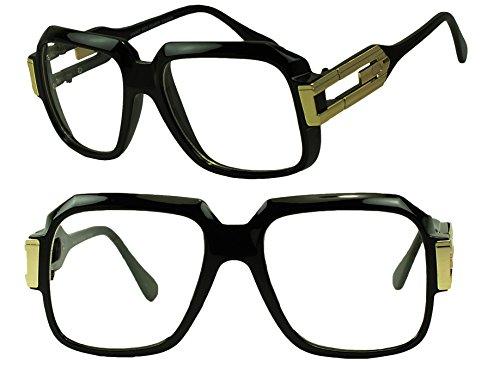 Run Dmc Costumes (Sunglass Stop - Original Square RUN-DMC Fashion Clear Lens Eyeglasses)