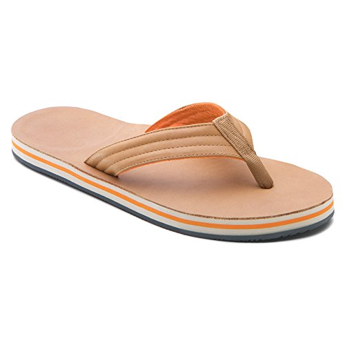 Hari Mari Men's Lakes Flip Flop - TAN/ORANGE\13