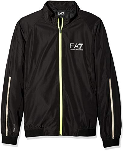 Emporio Armani EA7 Men's Training Performance & Stylite Ventus7 Top Perf. Jacket, Black, M