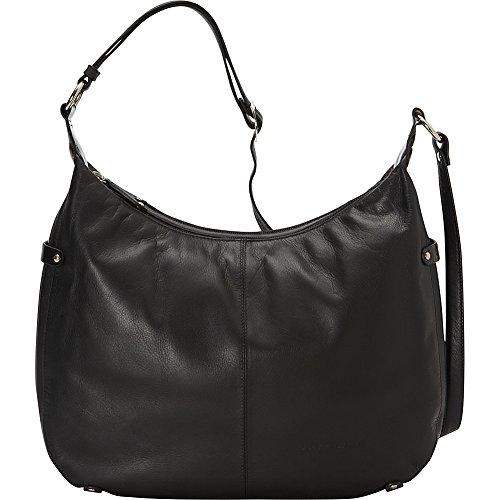 Leather Patent Large Hobo (Derek Alexander Leather Patent Trimmed Large Hobo (Black/Black))