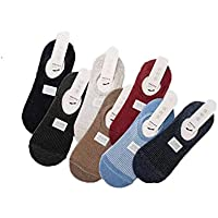 Men's Low Cut Cotton Socks Anti Slip Ankle Socks Breathable Invisible Boat Socks 7 Pairs(free Size)