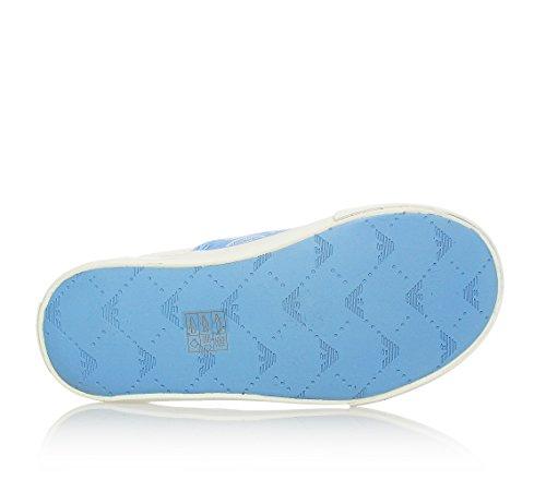 ARMANI - Chaussure sans lacets bleu ciel, Unisex enfant,garçons,filles,hommes,femmes