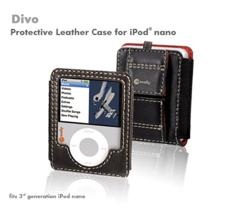Macally Leather Case for iPod nano 3G (Brown)