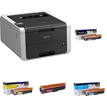 Brother HL-3170CDW - Impresora láser color + Pack de 4 tóners TN241