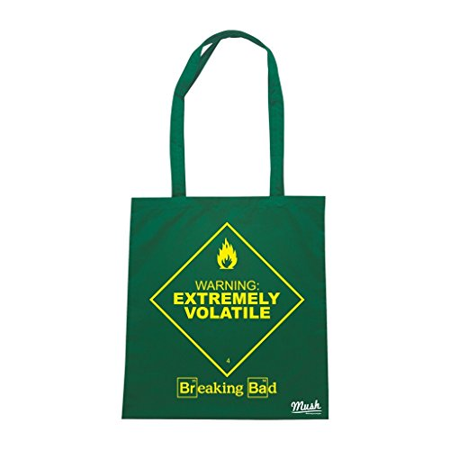 Borsa Breaking Bad Extremely Volatile - Verde Bottiglia - Film by Mush Dress Your Style