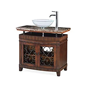 36″ Benton Collection Vessel Sink Artturi Bathroom Vanity – Faucet & Vessel All Inclusive # Q226BN