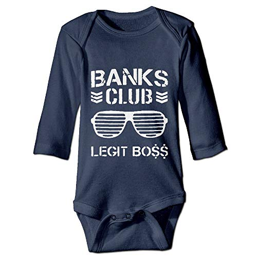 Printed Banks Club Legit Boss Funny Newborn Toddler Baby Long Sleeves Romper Jumpsuit Bodysuit