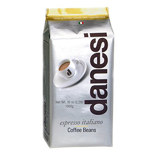Danesi Gold Quality Beans 2.2 lbs bag Espresso Coffee Beans from Italy (6 x 2.2 lbs) by Danesi