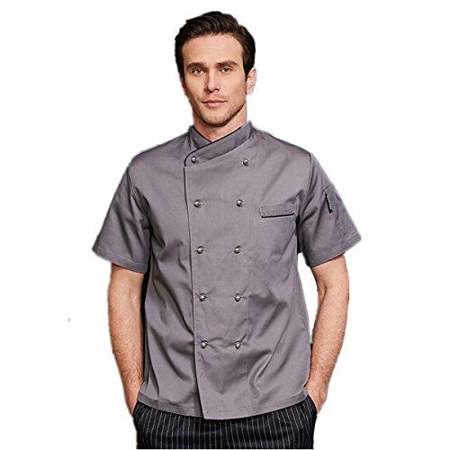 XINFU Men's Chef's Uniform Long/Short Sleeve Decoration Hotel Restaurant Cake Shop Baking Kitchen Double Breasted