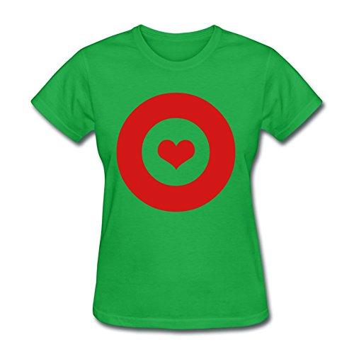 Customizable Target Love Vector Shirts Green Xx-large Women]()