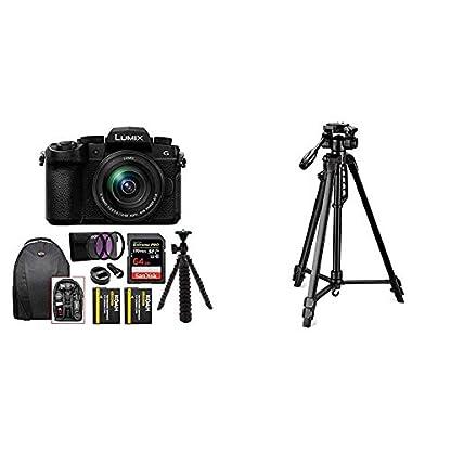Panasonic Lumix G DC-G95 20.3MP Mirrorless Camera with 12-60mm Lens (4K Photo, Wi-Fi and Bluetooth) + Digitek 550LW… 1