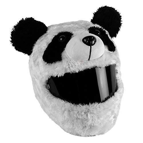 Moto Loot Helmet Cover for Motorcycle Helmet, Fun Rides and Gifts (Cover Only. Helmet Not Included) - Panda ()