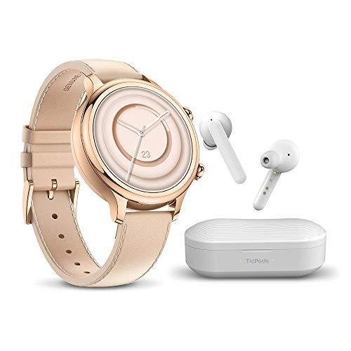 TicWatch C2 Plus and TicPods 1 Bundle, TicWatch C2 Plus GPS ip68 Waterproof NFC smartwatch and TicPods 1 Wireless…