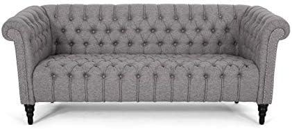 Christopher Knight Home Edgar Traditional Chesterfield Sofa - a good cheap living room sofa